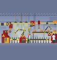 modern factory assembly line