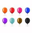 modern glossy helium balloons set vector image