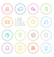 modern outline circle thin line icon set vector image vector image