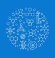 molecule round concept in thin vector image