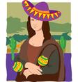 Mona Lisa sombrero vector image vector image