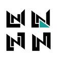 n logo monogram vector image vector image