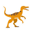 orange raptor dinosaur of jurassic period vector image vector image