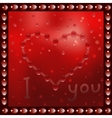 Painted heart on the window vector image vector image