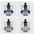 police logo design artwork police officer and vector image