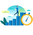 productivity increase time management vector image