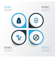 religion colorful icons set collection of vector image vector image