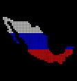 russia colors dot mexico map vector image vector image