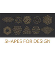 sacred geometry symbols collection hipster vector image vector image