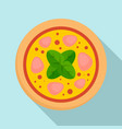 salami meat pizza icon flat style vector image vector image