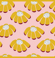 seamless flowers repeating background vector image