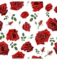 Seamless roses pattern floral background vector image