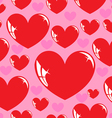 seamless wallpaper heart vector image vector image