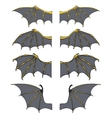 Set of dragon or bat wings vector image