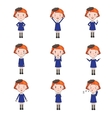 Set of Emotions Character in Flat Style vector image vector image