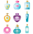 Set of perfumes vector image vector image