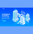 Smart city building concept background isometric