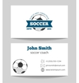 Soccer business card vector image