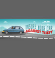 social crime theft poster vector image