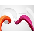 Swirl shape colorful line Futuristic abstract vector image vector image