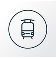 train icon line symbol premium quality isolated vector image vector image