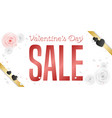 valentines day sale banner horizontal composition vector image vector image