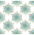 vintage winter seamless pattern vector image vector image