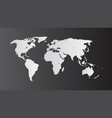 world map isolate on blank background fla vector image