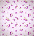 Pattern with little pink flowers vector image