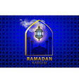 ramadan kareem Islamic design banner background vector image