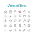 Univerasal web icons set vector image