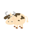 a cute s cow cartoon vector image