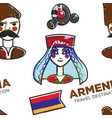 Armenia travel destination armenian man and woman