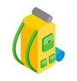 backpack isometric 3d icon vector image