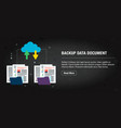 backup data document banner internet with icons vector image vector image