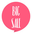 big sale tag red color isolated on white vector image