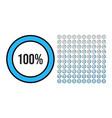 big set circle percentage diagrams from 0 vector image