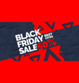 black friday big sales trendy modern poster to vector image vector image
