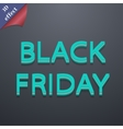 Black friday icon symbol 3D style Trendy modern vector image