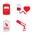 blood donation set vector image