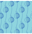 blue decoration floral pattern vector image
