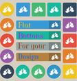 boxing gloves icon sign Set of twenty colored flat vector image