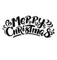 cartoon style funny merry christmas lettering vector image vector image