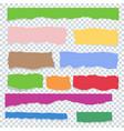 color torn paper set transparent vector image vector image