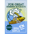color vintage jet ski banner vector image