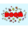 Comic book Cartoon - boom explosion Splash with vector image vector image