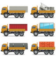Construction Trucks vector image vector image