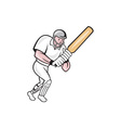 Cricket Player Batsman Batting Cartoon vector image vector image