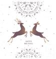 deer amazing silhouette vector image vector image