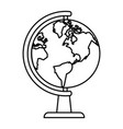 earth map on globe icon image vector image vector image